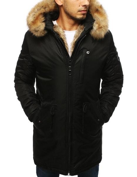 Zaujímavá čierna zimná bunda