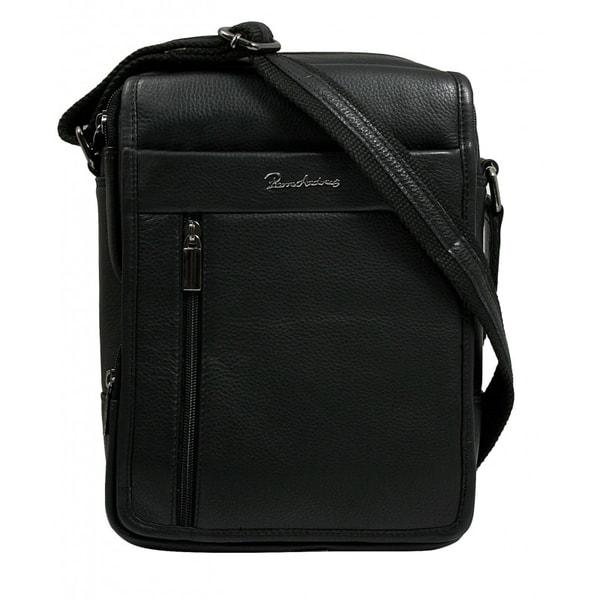 Kožená čierna pánska taška