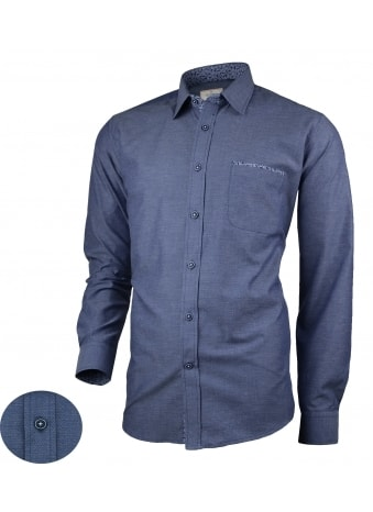 Vzorovaná pánska košeľa v granátovej farbe V314
