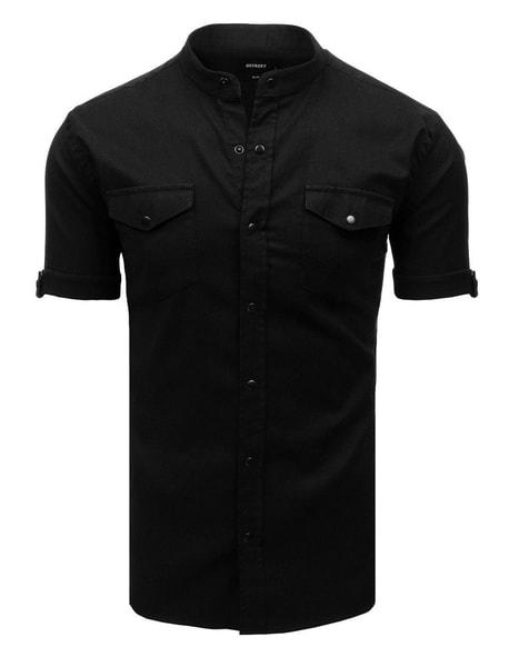 Jedinečná čierna košeľa s krátkym rukávom