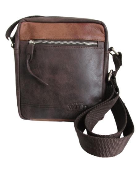 Štýlová hnedá taška pre pánov