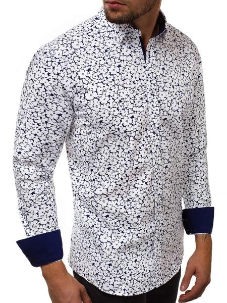Jedinečná biela pánska košeľa V/K157