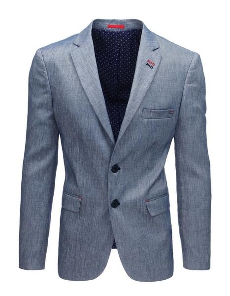 Modré štýlové ľanové sako