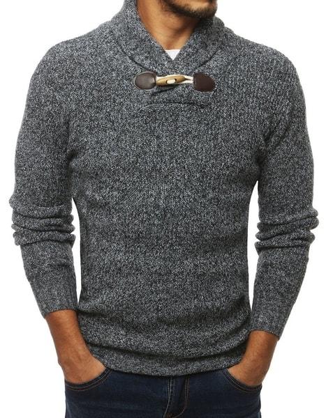 Šedý perfektný pánsky sveter