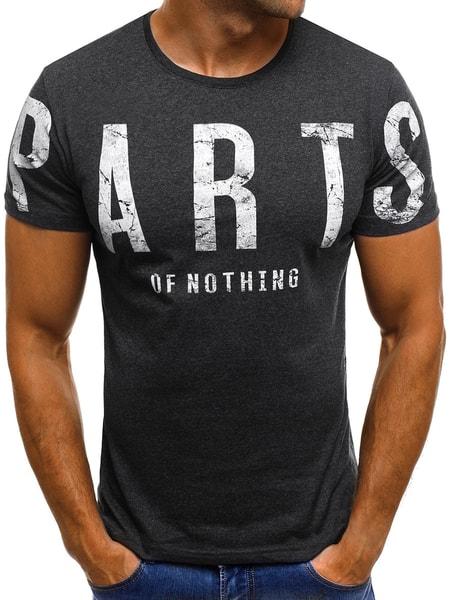 Módne grafitové tričko O/1180