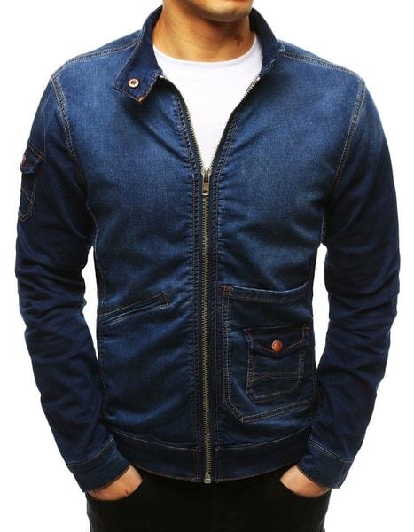 Zaujímavá rifľová bunda modrá