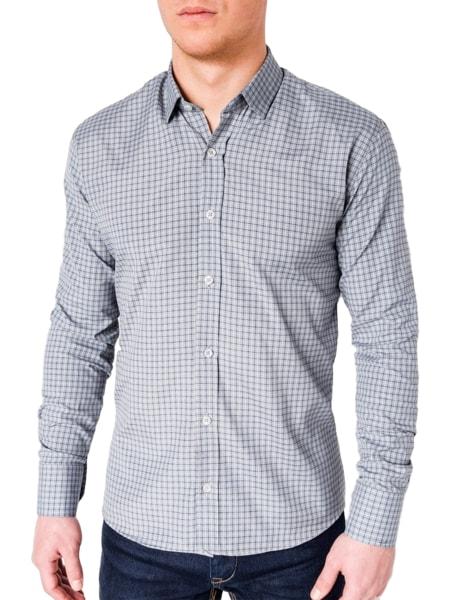 Šedá trendy košeľa k434
