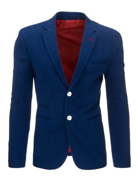 Pánske sako nebesky modrej farby