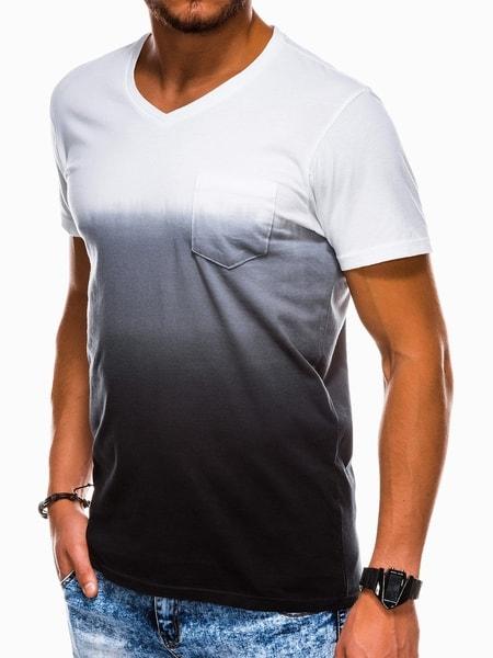 Trendy čierne bavlnené tričko s1036