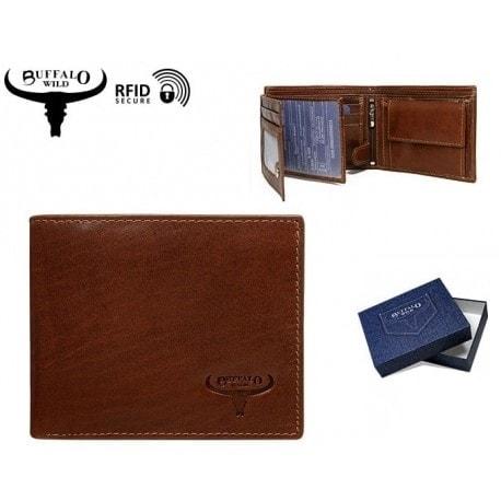 Hnedá kožená peňaženka Buffalo