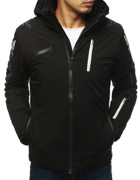 Čierna zimná lyžiarska bunda