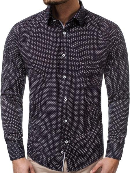 Vzorovaná pánska košeľa granátová V/K79