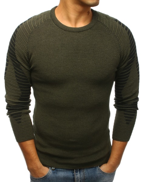 Fantastický zelený pánsky sveter