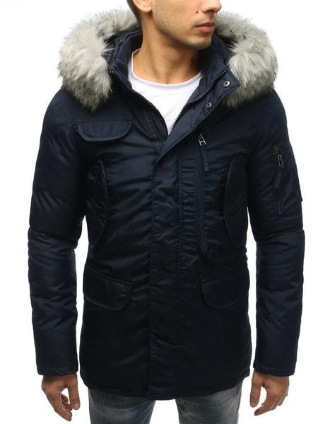 Zimná granátová bunda s kapucňou