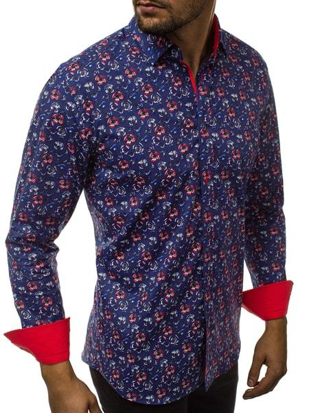 Atraktívna vzorovaná pánska košeľa V/K145