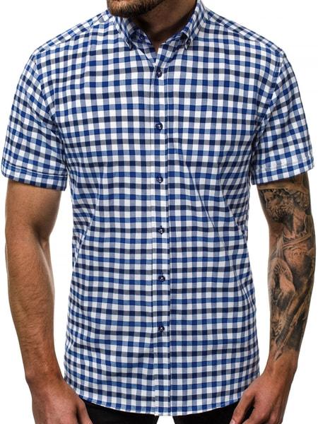Kockovaná pánska košeľa V/K118