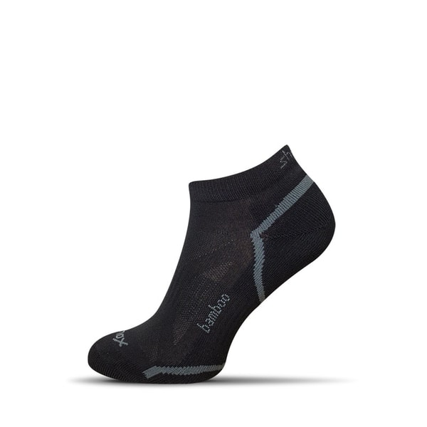 Členkové bambusové pánske ponožky v čiernej farbe