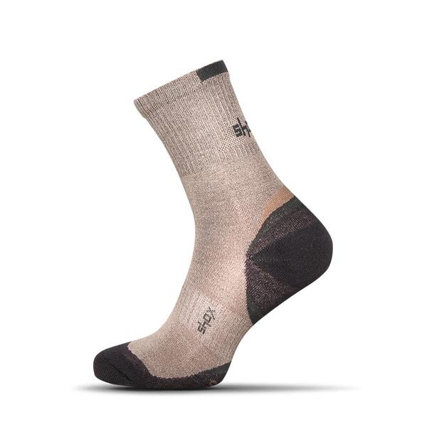 Béžové bambusové pánske ponožky