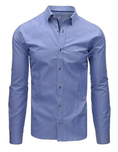 Granátová kockovaná košeľa