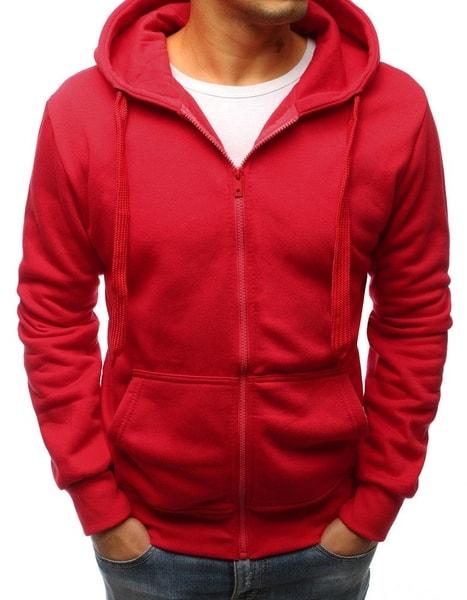 Štýlová červená mikina s vreckami