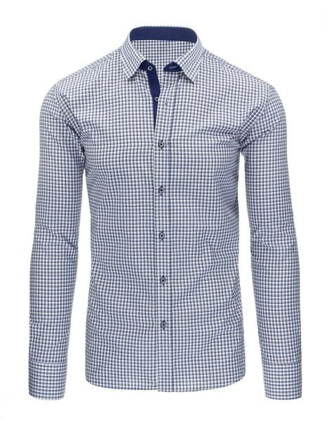 Štýlová modro-žltá košeľa