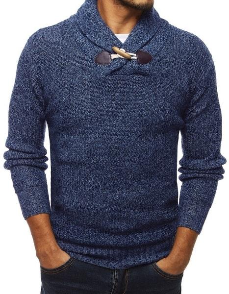 Modrý zaujímavý pánsky sveter