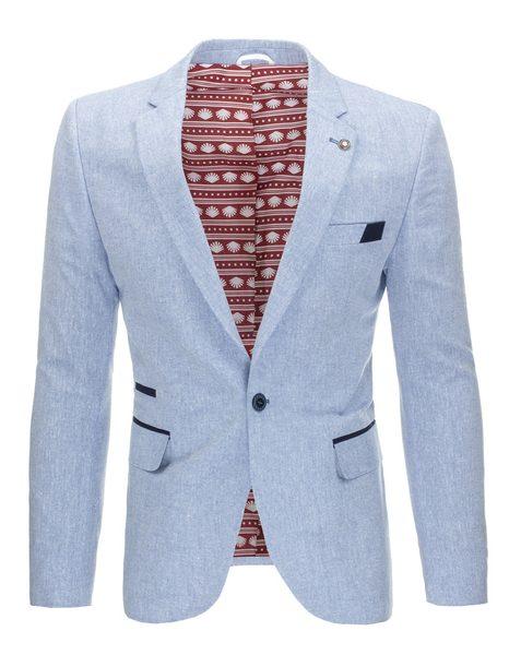 Ležérne svetlomodré pánske sako