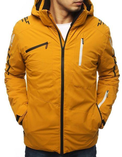Žltá zimná lyžiarska bunda