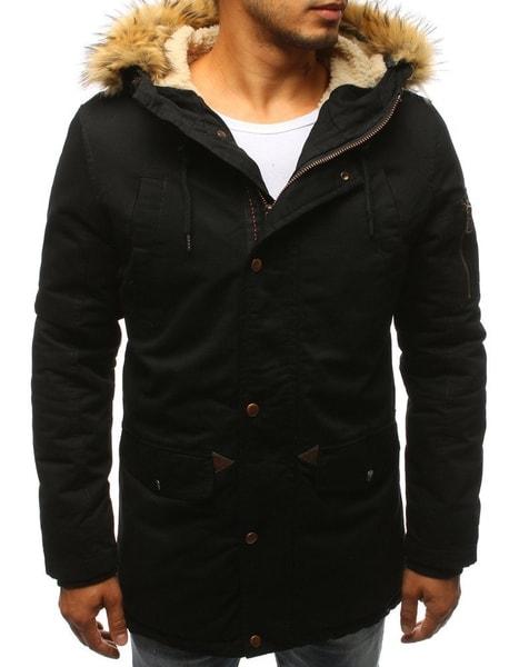 Čierna zimná štýlová bunda
