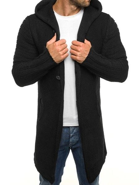 Čierny pánsky sveter MADMEXT 1719