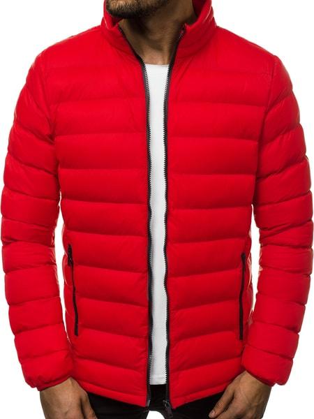 Červená prešívaná bunda OZONEE JB/JP1111
