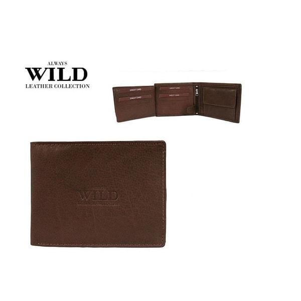 Jednoduchá tmavo-hnedá kožená peňaženka
