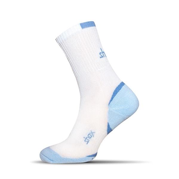Bavlnené pánske ponožky v bielo-modrej farbe