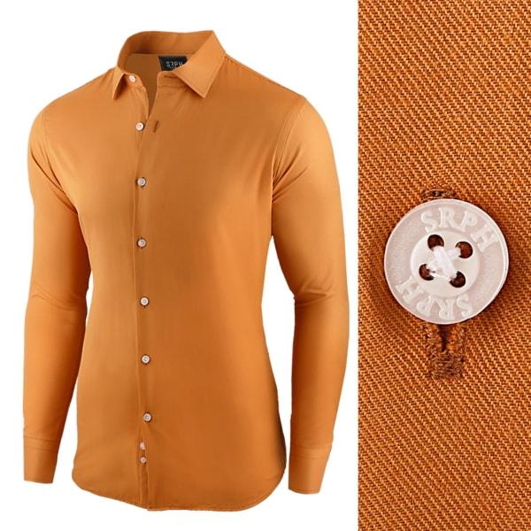 Camelová pánska košeľa s dlhým rukávom
