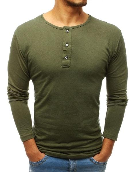 Zelené tričko s dlhým rukávom