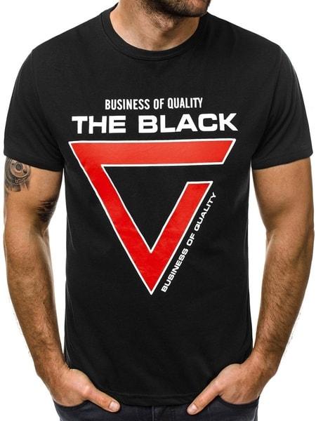 Trendy pánske tričko čierne JS/10821
