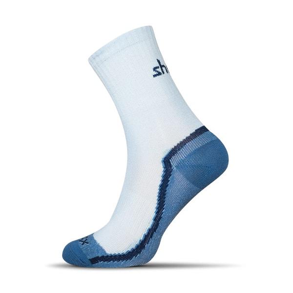 Dvojfarebné modré ponožky