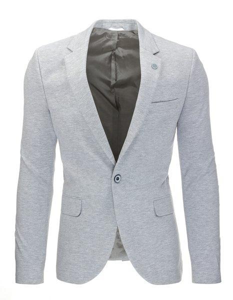 Fantastické šedé pánske sako