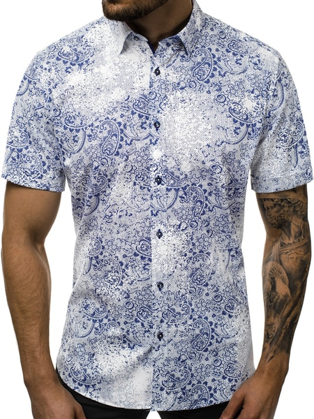 Jedinečná vzorovaná pánska košeľa V/K131