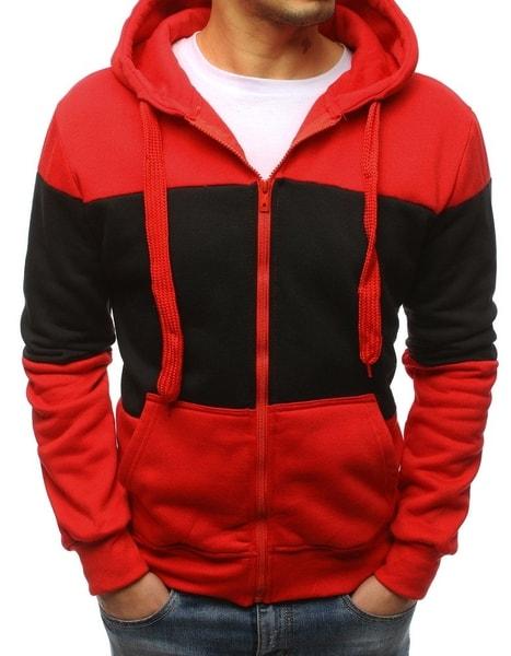 Červená trendová mikina