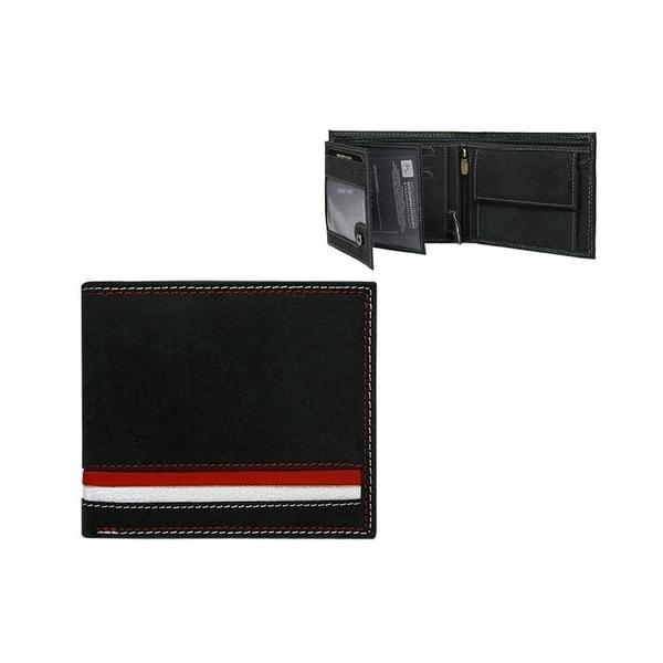 Čierna peňaženka v módnom prevedení bez pracky