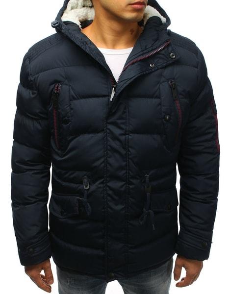 Prešívaná granátová zimná bunda