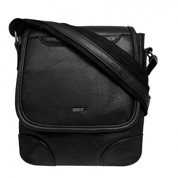 Kožená pánska taška čierna