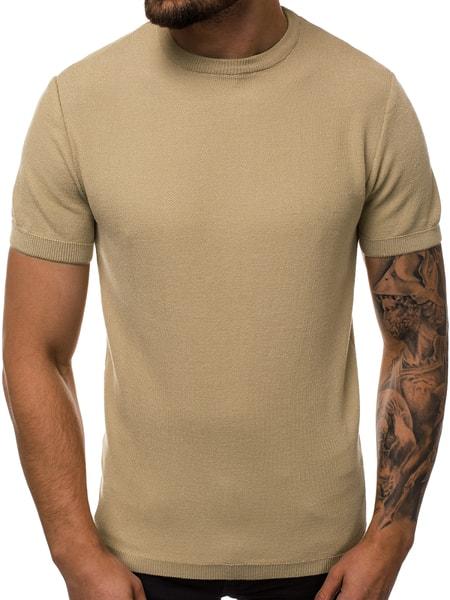 Béžový atraktívny sveter B/95003