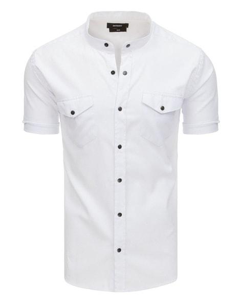 Fantastická biela košeľa s krátkym rukávom