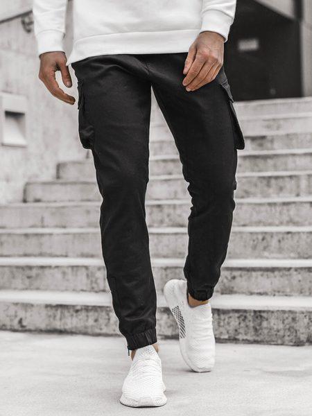 Čierne nohavice s hlbokými vreckami A/705