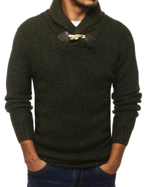 Zelený štýlový pánsky sveter