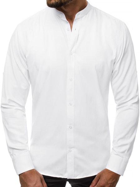 Jedinečná biela pánska košeľa V/K138