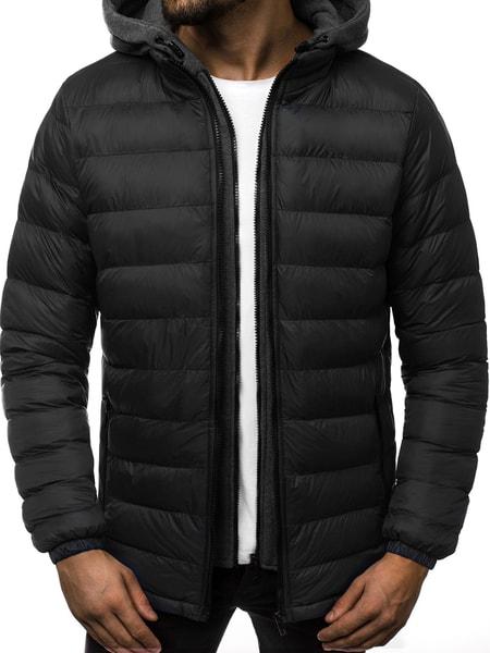 Čierna zimná pánska bunda JB/JP1102