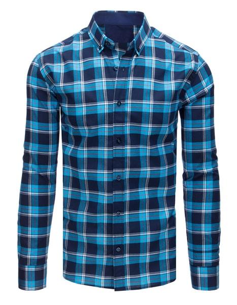 Granátovo-modrá kockovaná košeľa